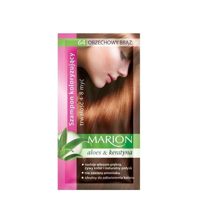 marion colouring hair shampoo 64 brown nuts
