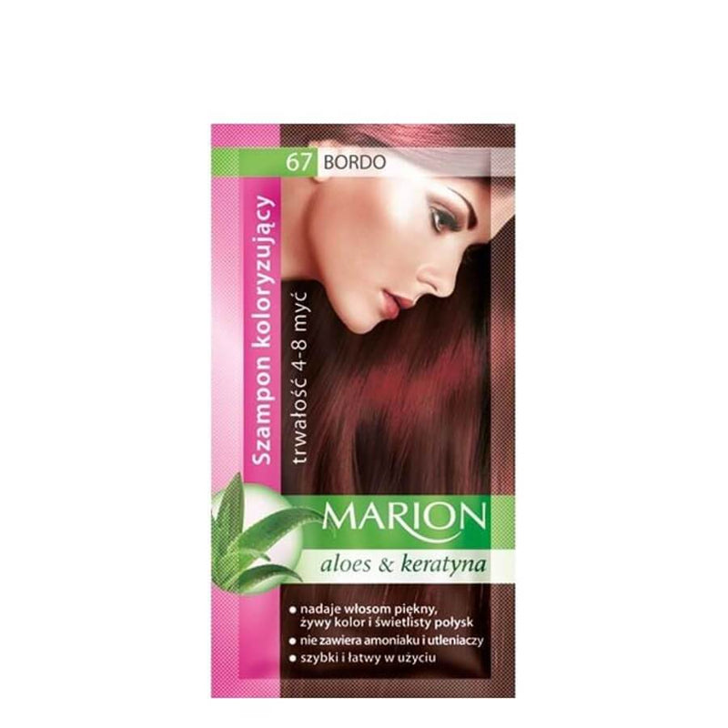 marion colouring hair shampoo 67 claret