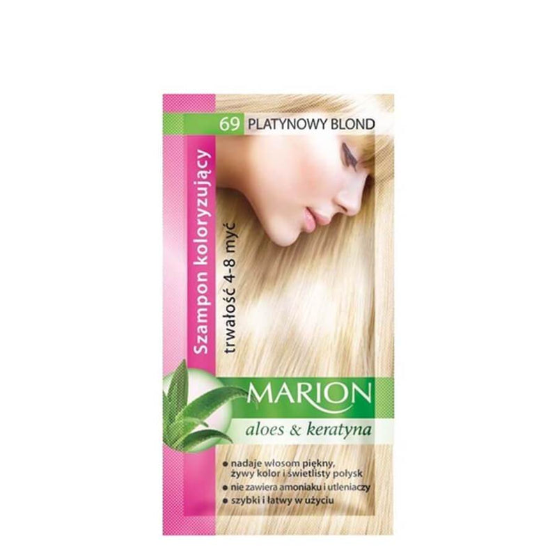marion colouring hair shampoo 69 platinium blonde