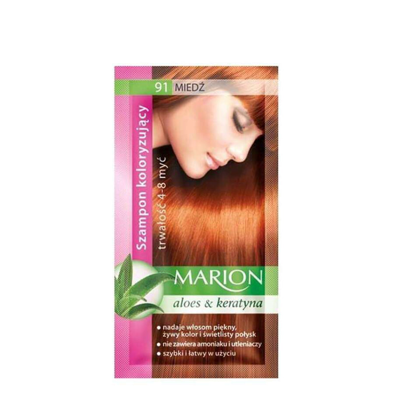marion colouring hair shampoo 91 light cooper
