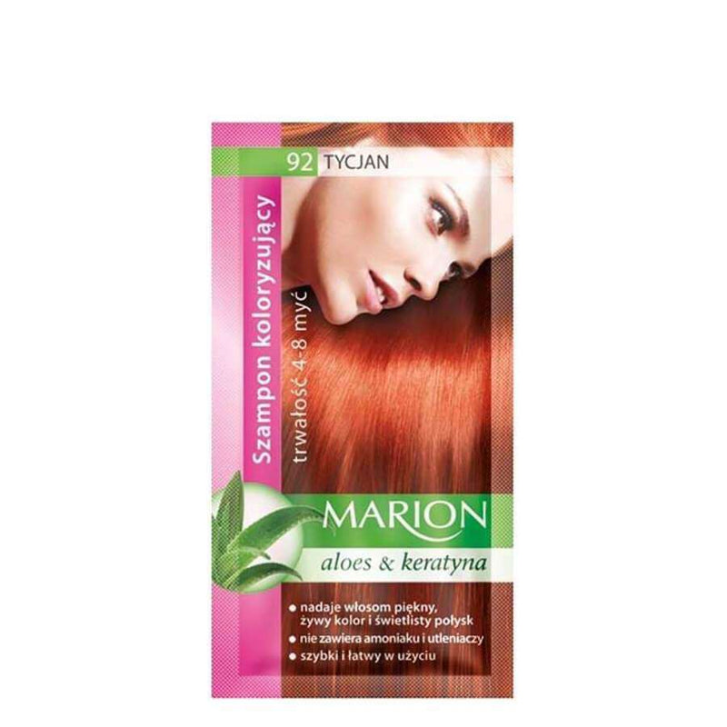 marion colouring hair shampoo 92 titian