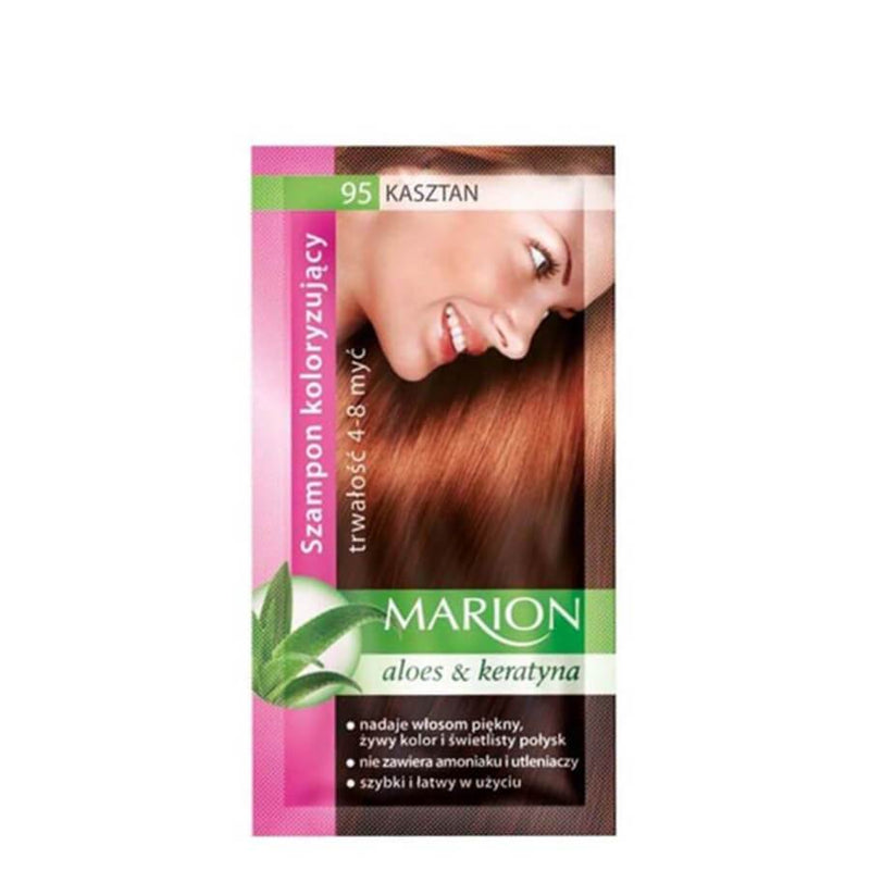 marion colouring hair shampoo 95 medium chestnut