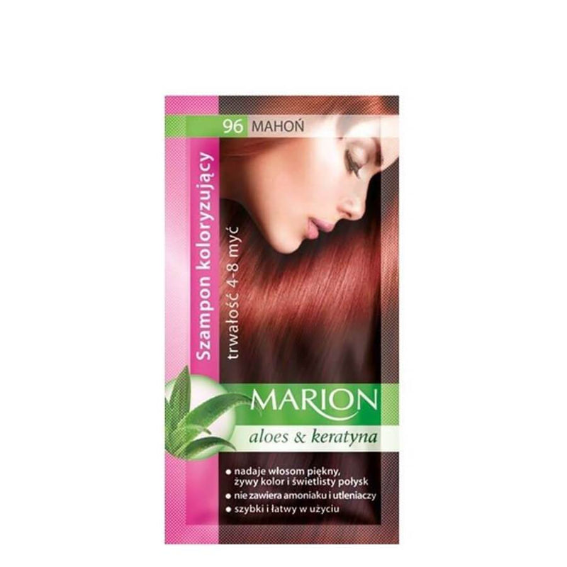 marion colouring hair shampoo 96 mahogany