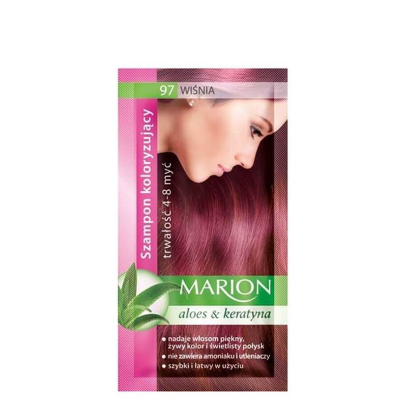 marion colouring hair shampoo 97 cherry