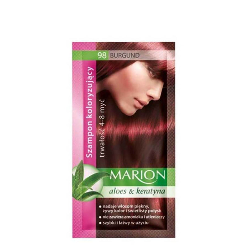 marion colouring hair shampoo 98 burgundy