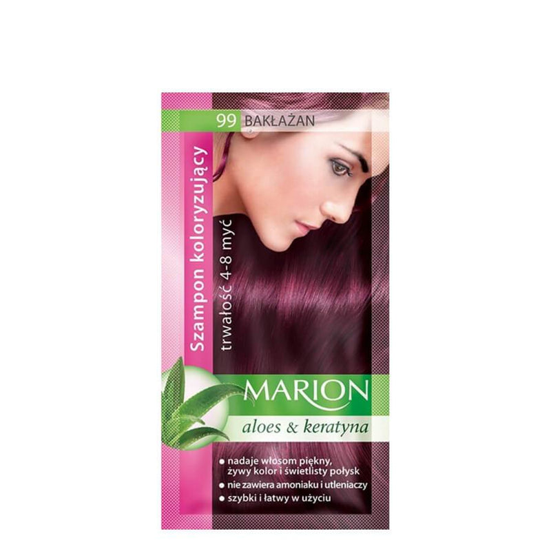 marion colouring hair shampoo 99 aubergine