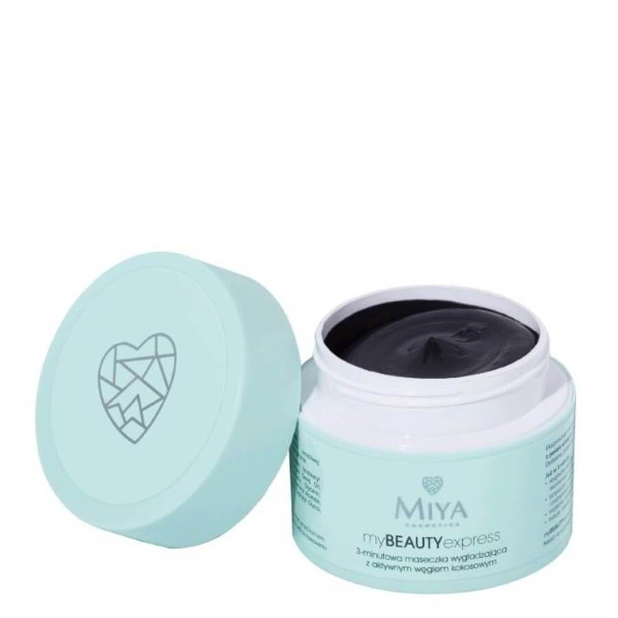 miya cosmetics smoothing face mask with coconut charcoal my beauty express 50g