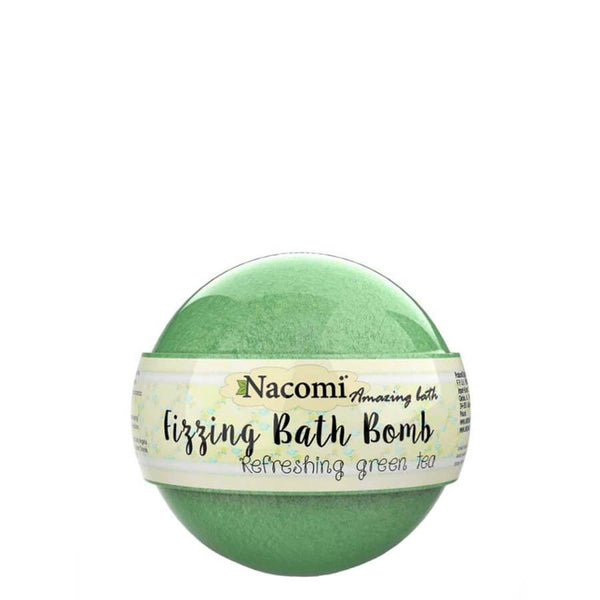 nacomi bath bomb frizzing ball refreshing green tea