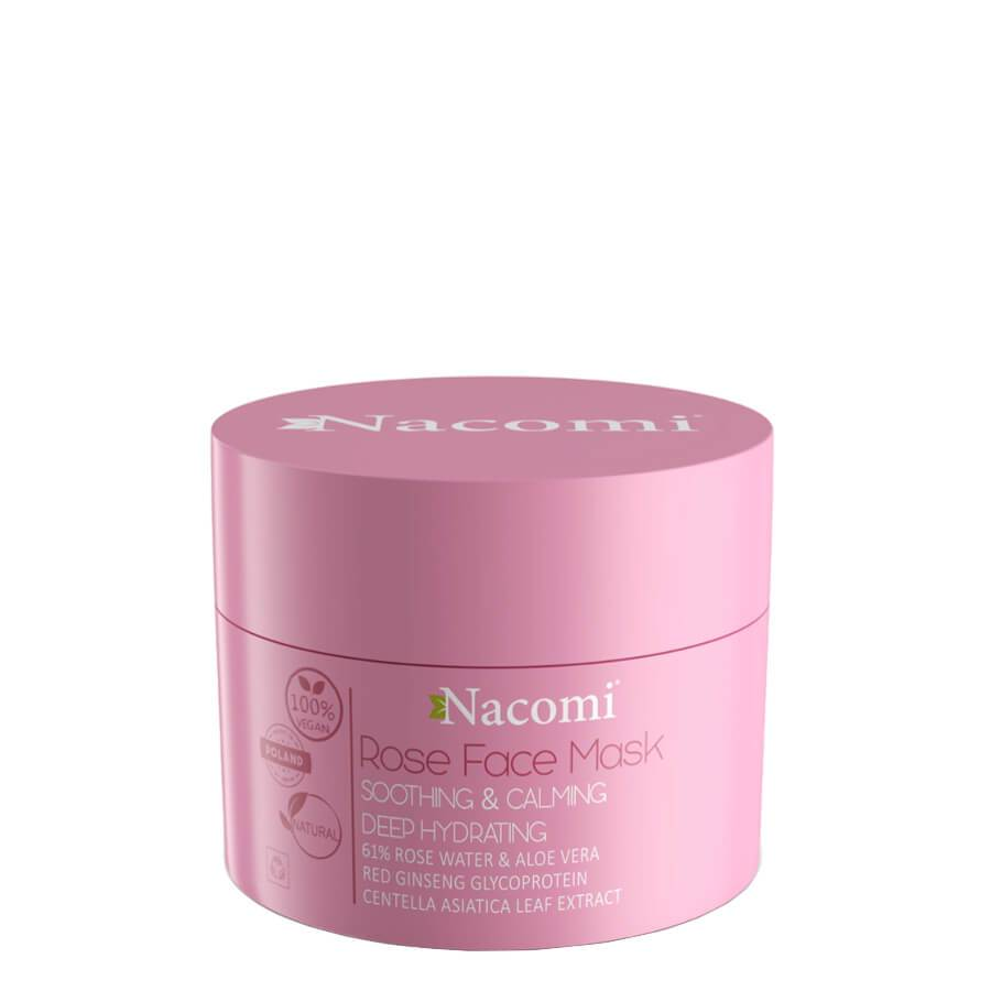 nacomi rose face mask vegan soothing and calminf care 50ml