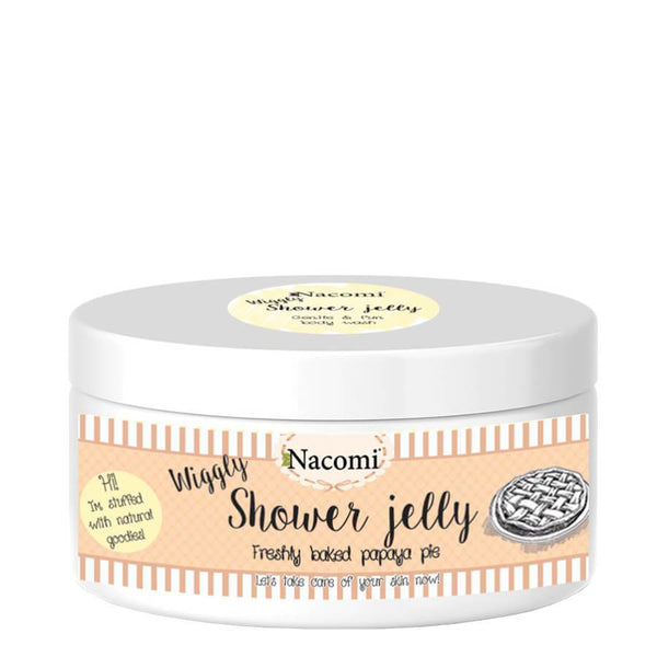 nacomi shower gelly body wash papaya pie