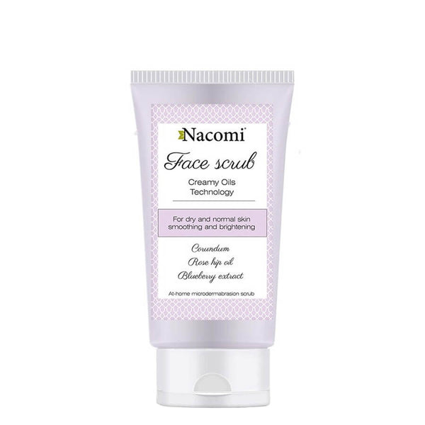 nacomi natural face scrub smoothing brightening 75ml