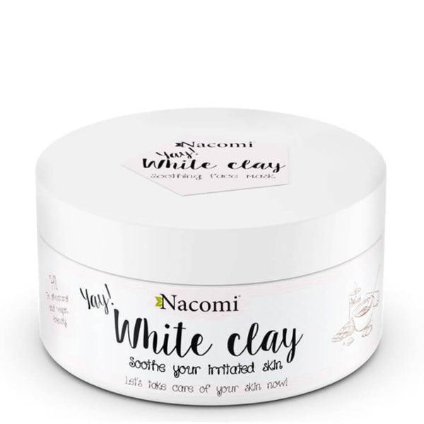 nacomi white clay mask 50g for sensitive skin