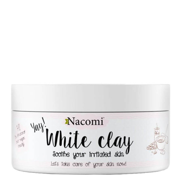 nacomi natural face mask white clay