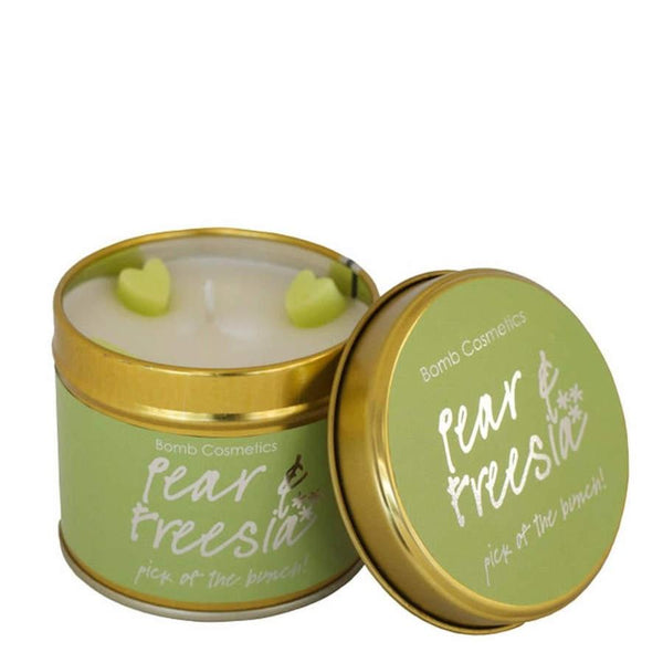 Bomb Cosmetics Pear and Freesia Tinned Candle