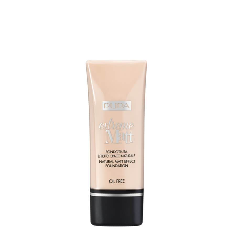 pupa milano extreme matt foundation natural effect fluid 001