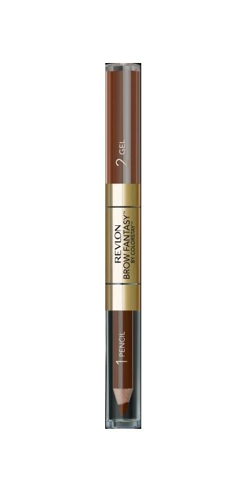 Revlon ColorStay Brow Fantasy Pencil eyebrow pencil Brunette 0,31g + Gel Gel eyebrows 1,18ml