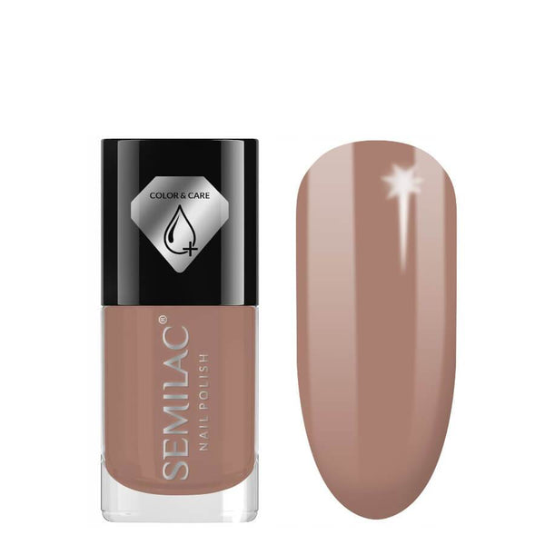 Semilac Color & Care Nail Polish C229 Brown 7ml