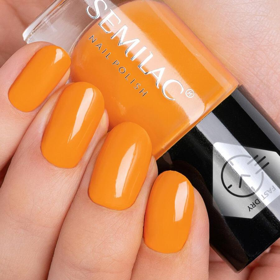 Semilac Fast Dry Nail Polish C440 Orange 7ml