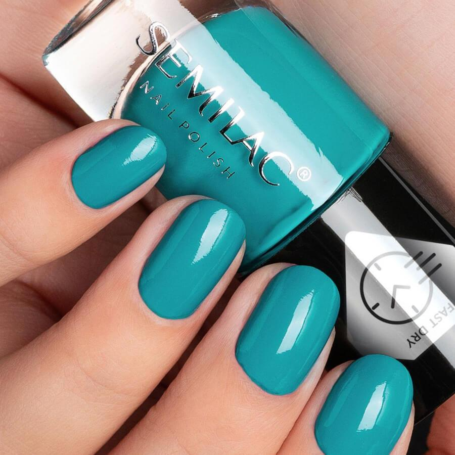 Semilac Fast Dry Nail Polish C970 Green 7ml
