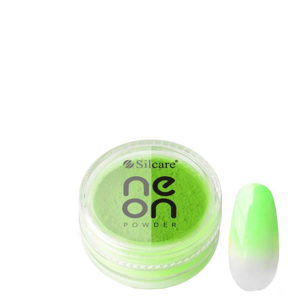 silcare glitter powder neon green