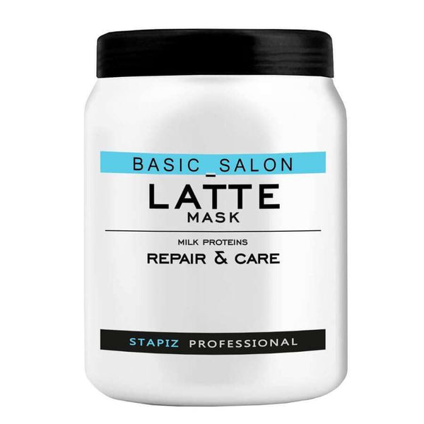 stapiz hair mask lattee 1000ml repair and care basic salon