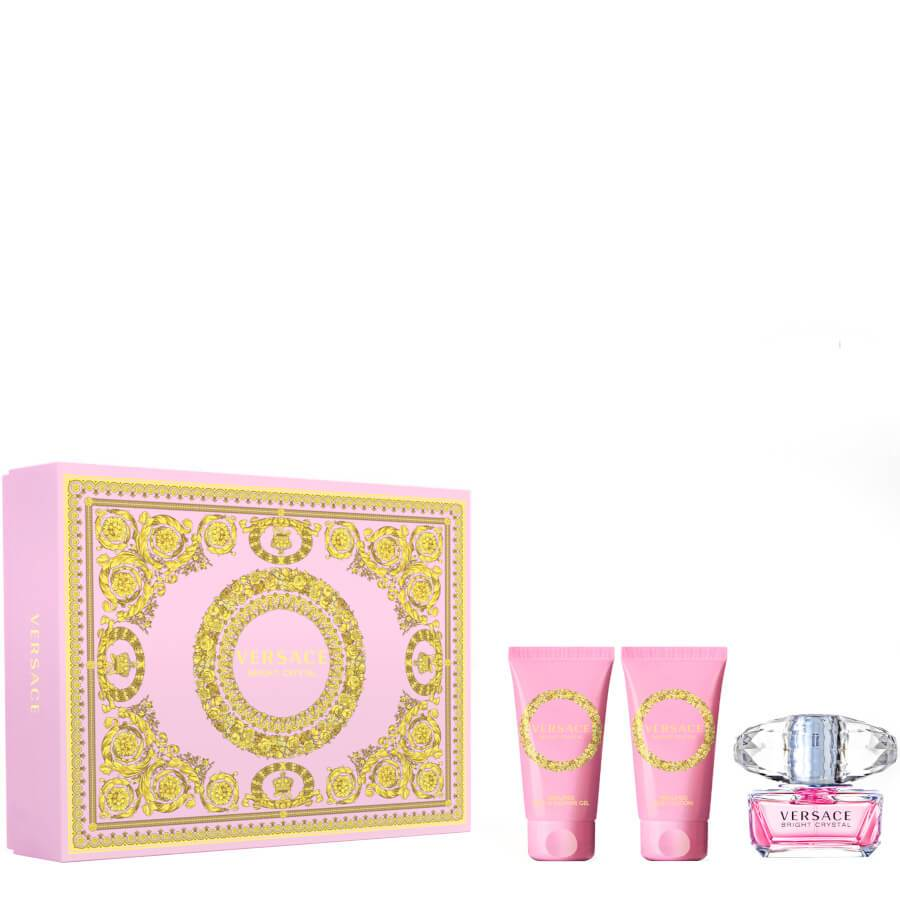 Versace Bright Crystal Gift Set EDT 50ml + Shower Gel 50ml & Body Lotion 50ml