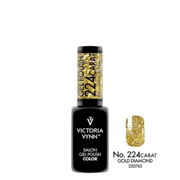 Victoria Vynn Gel Polish Color 224 Carat Gold Diamond 8ml