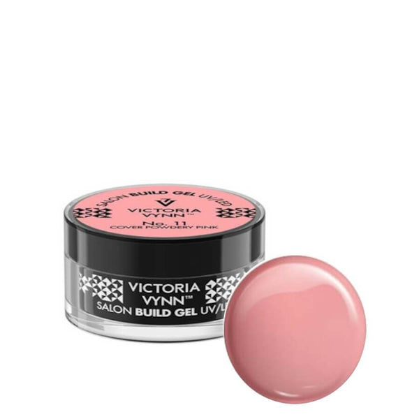 victoria vynn builder gel cover powdery pink 11