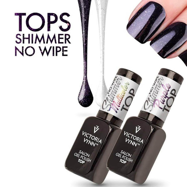 Victoria Vynn Top no wipe shimmer purple gel polish glitter