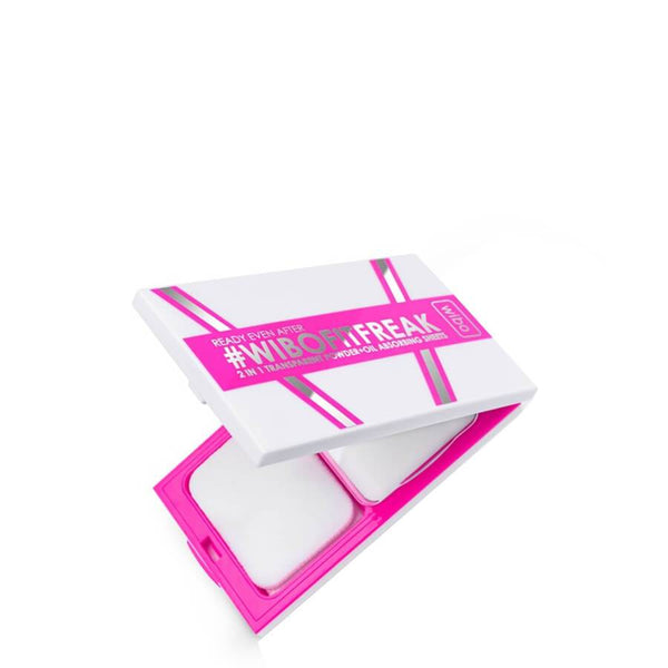 Wibo Fit Freak 2in1 Transparent Powder & Oil Absorbing Sheets opened