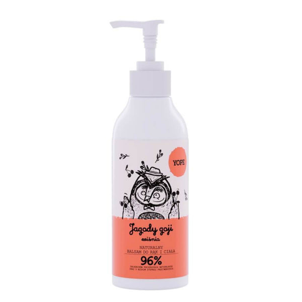 yope natural hand and body lotion goji berries and cherry 300ml
