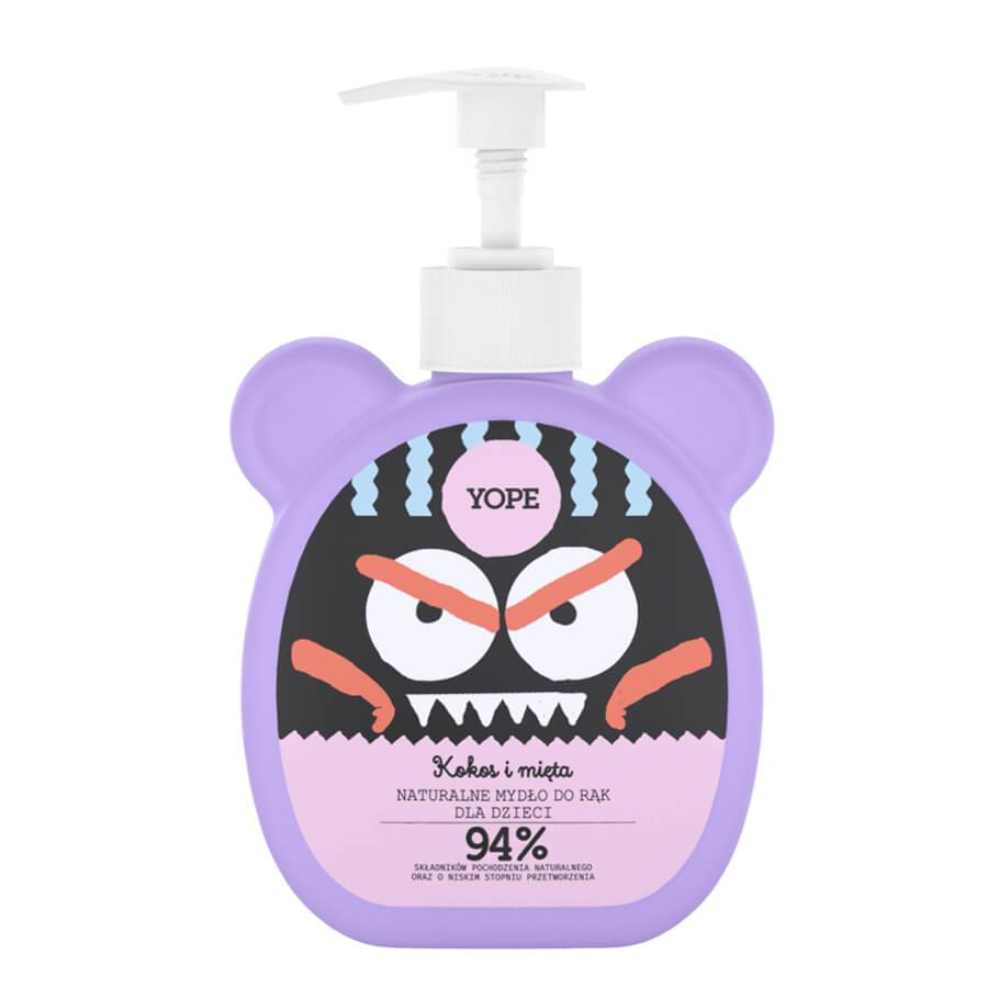 yope natural hand soap for kids coconut and mint 94% natural ingredients