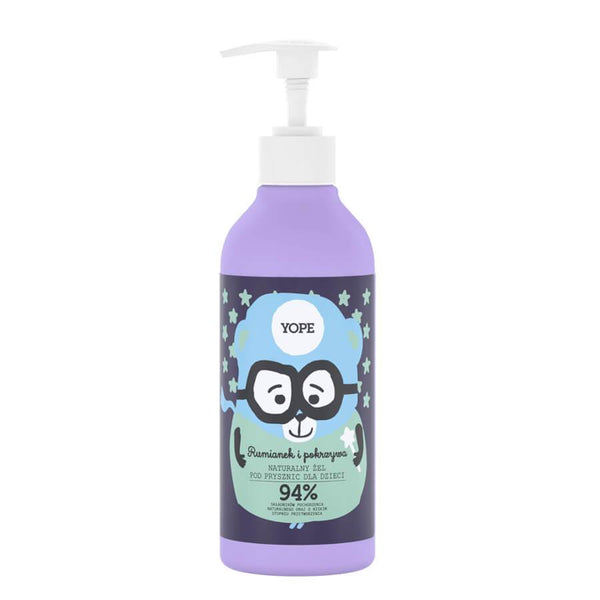 yope natural shower gel for kids paraben free chamomile and nettle