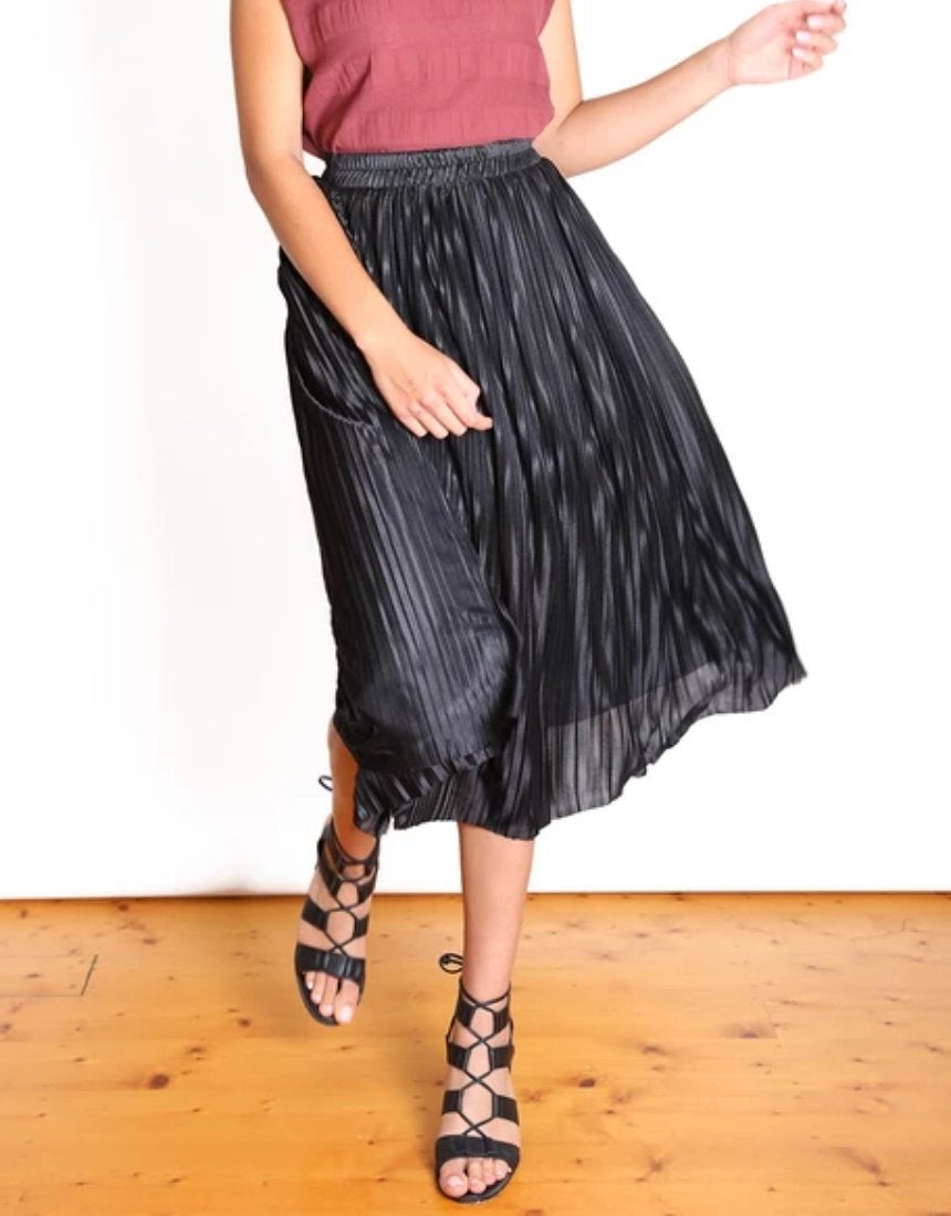 Olga de Polga LAKE COMO BLACK SHIMMER SKIRT