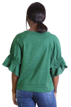 Load image into Gallery viewer, Olga de Polga SEKI BLOUSE- Green