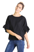 Load image into Gallery viewer, Olga de Polga SEKI BLOUSE- Black