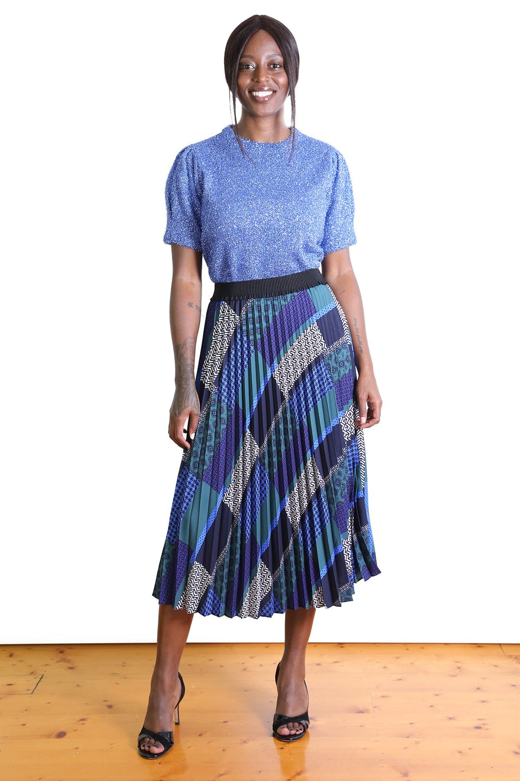 Olga de Polga RED CARPET PLEAT SKIRT- Forest
