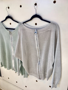 CindyG REVERSIBLE SHIMMER KNIT/CARDI/TOP