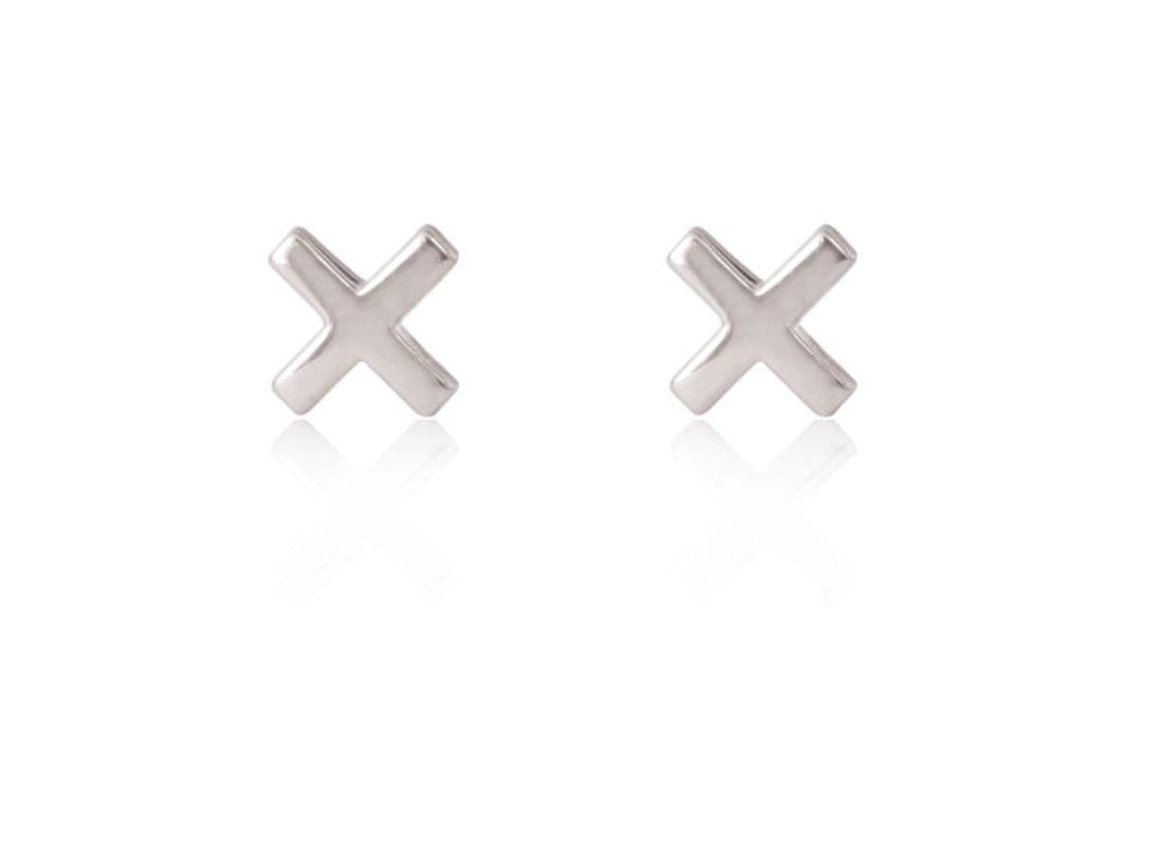Linda Tahija X CROSS STUDS- Silver, Rose or Gold Plated