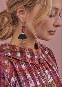 Middle Child DIEGO EARRINGS- Pink, Emerald or Black
