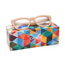 Load image into Gallery viewer, Caddis MATTE BONE MIKLOS Blue Light Filter Reading Glasses