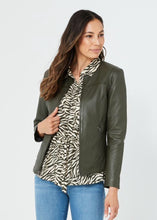 Load image into Gallery viewer, Kaja Clothing GIA Leather Jacket- DEEP OLIVE