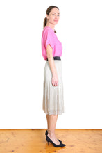Load image into Gallery viewer, Olga de Polga LUCKY 7 GOLD PLEAT SKIRT