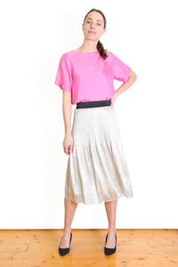 Olga de Polga LUCKY 7 GOLD PLEAT SKIRT