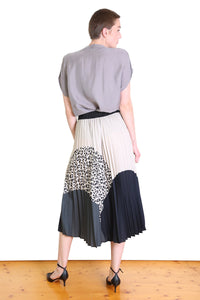 Olga de Polga BETTY PLEAT SKIRT- Ivory