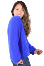 Load image into Gallery viewer, Olga de Polga MONTREAL ANGORA KNIT- Neon Blue