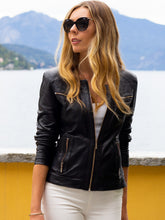Load image into Gallery viewer, Cadelle NEW YORK LEATHER JACKET- Black