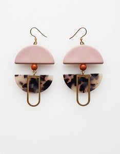 Middle Child HELM EARRINGS- Pink or Black
