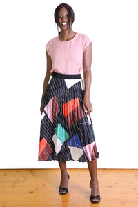Olga de Polga TIFFANY PLEAT SKIRT- Black