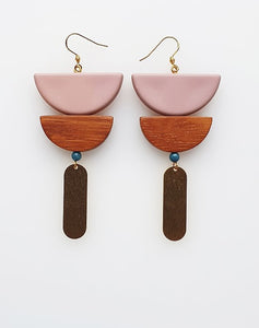 Middle Child BREUER EARRINGS- Black, Navy or Pink